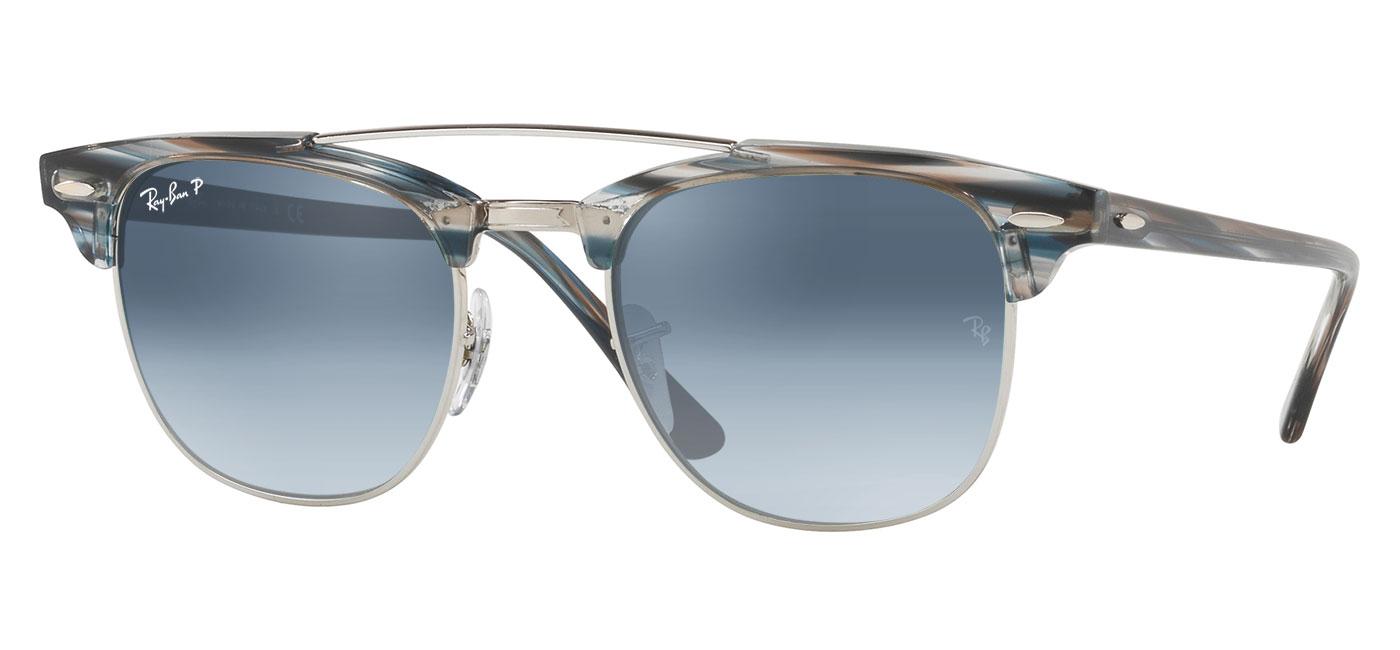 556e266b40f ... Ray-Ban RB3816 Clubmaster Double Bridge Prescription Sunglasses – Blue    Silver. prev. next. blue-grey-gradient-polarised