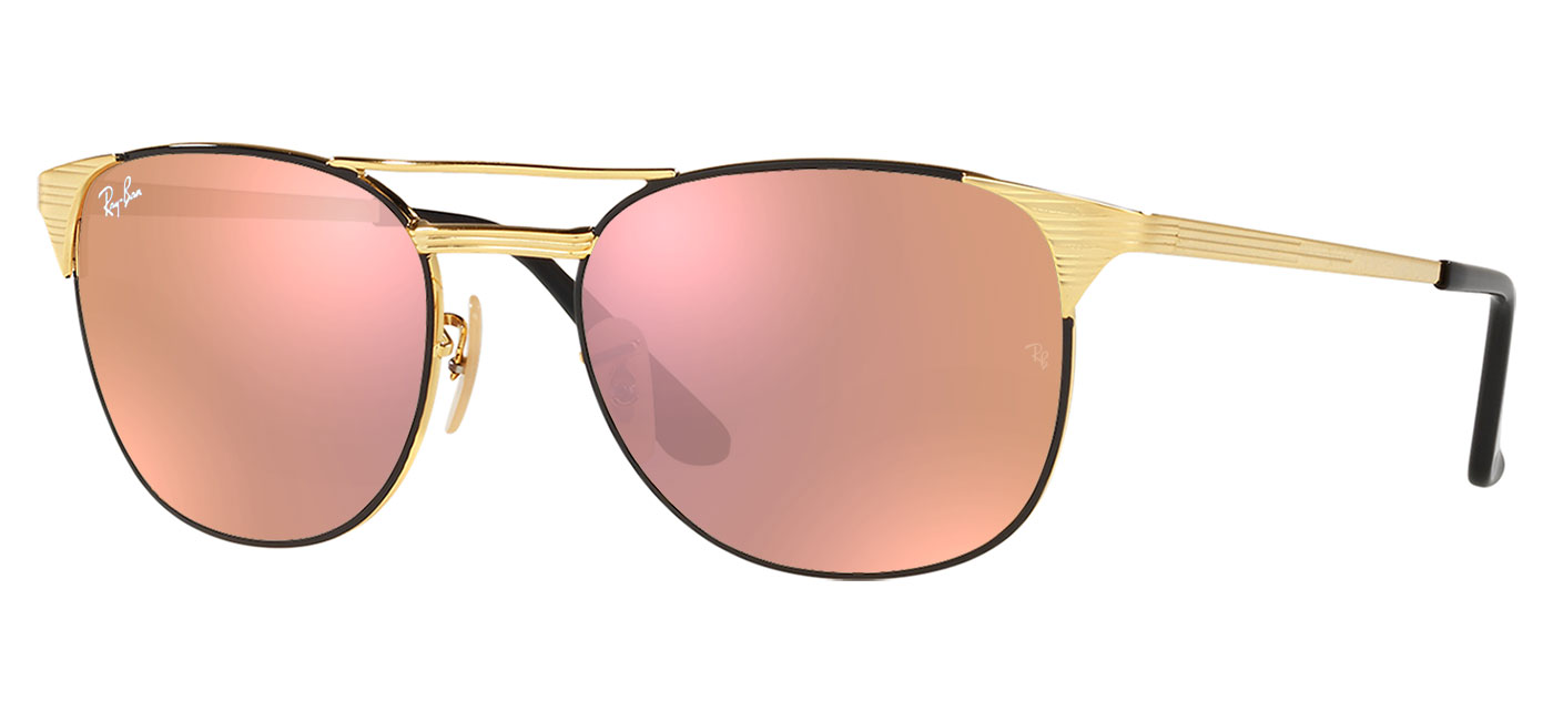 ce8b8ed579ee2 ... greece ray ban rb3429m signet prescription sunglasses gold black 28b2d  ac33c