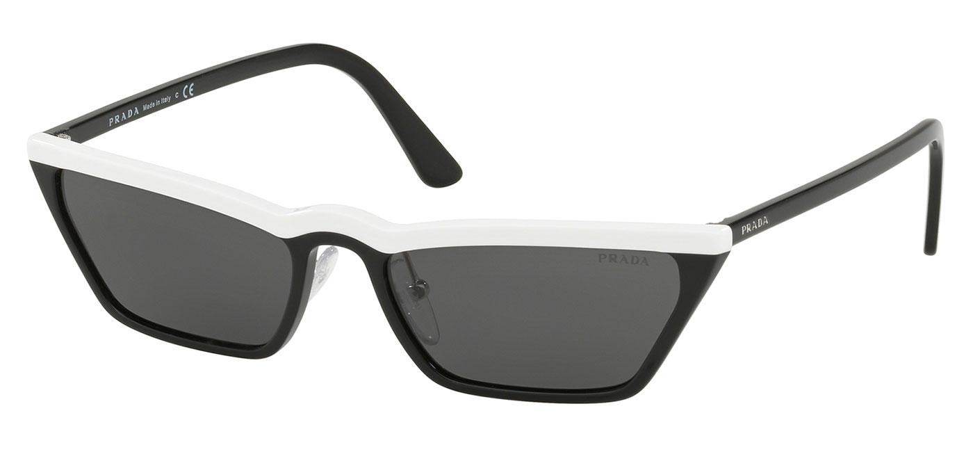 1a71d7dcba71 Prada PR19US Sunglasses - White & Black / Grey - Tortoise+Black