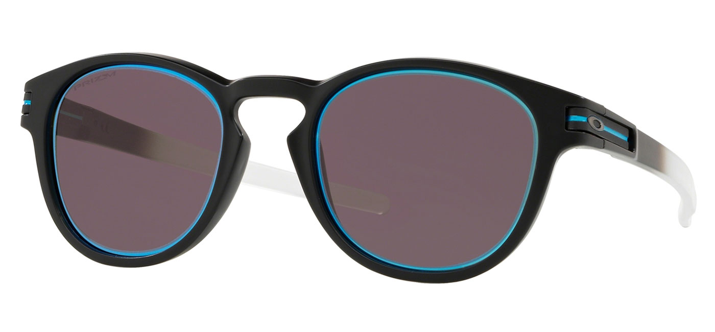 98b0cf192895 Oakley Latch Sunglasses - Borderline Collection Matte Black Fade   Prizm  Grey Sapphire Alt Iridium - Tortoise+Black