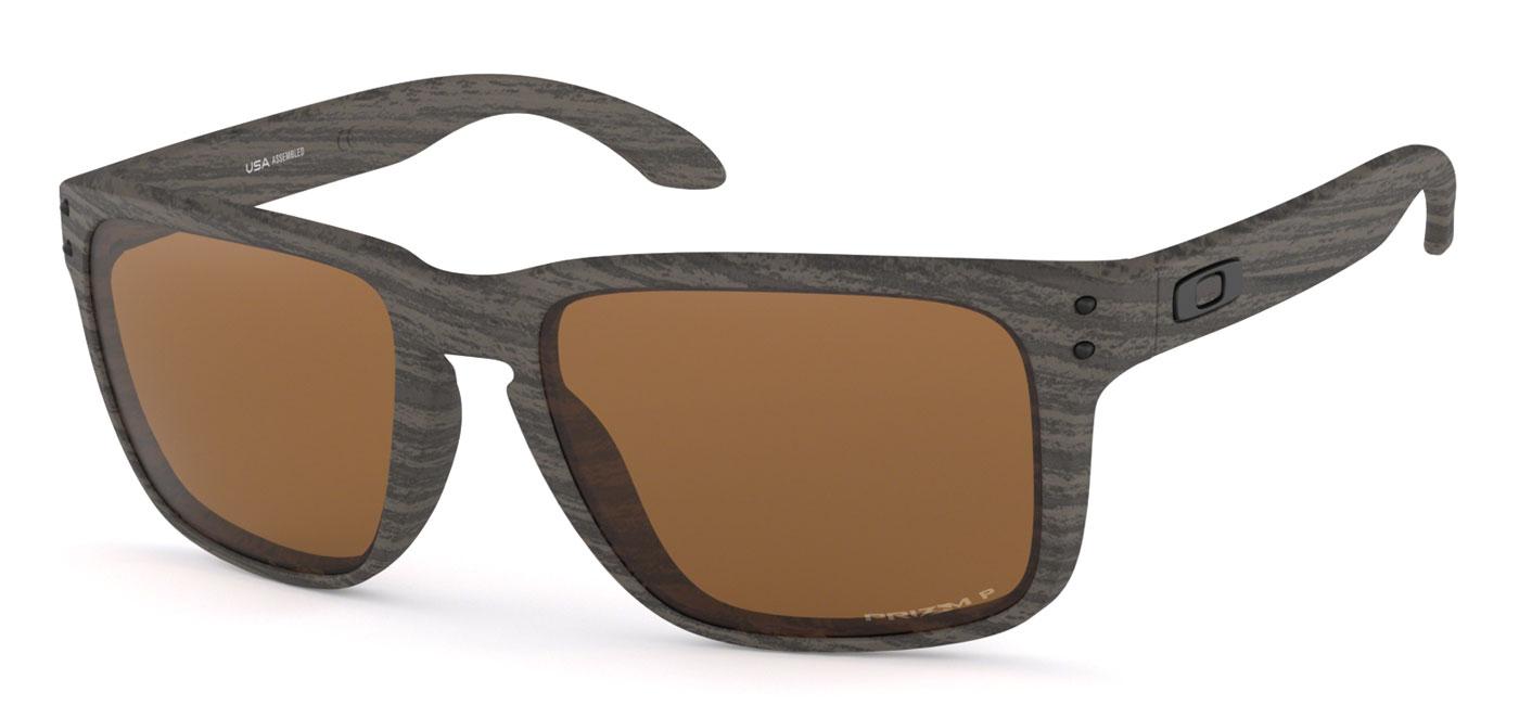 85703c86ffad Oakley Holbrook XL Sunglasses - Woodgrain / Prizm Tungsten Polarised ...