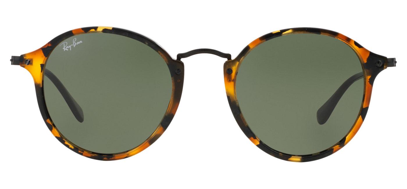 9cfee62b4bbc5 Ray-Ban RB2447 Round Fleck Sunglasses - Tortoise   Black   Green ...
