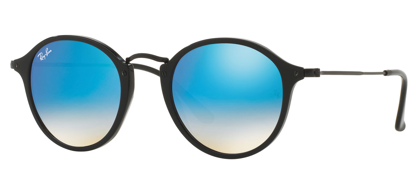 38422b8b995ff ... Ray-Ban RB2447 Round Fleck Sunglasses – Black   Blue Gradient Flash.  prev. next. RB2447-901 4O product1
