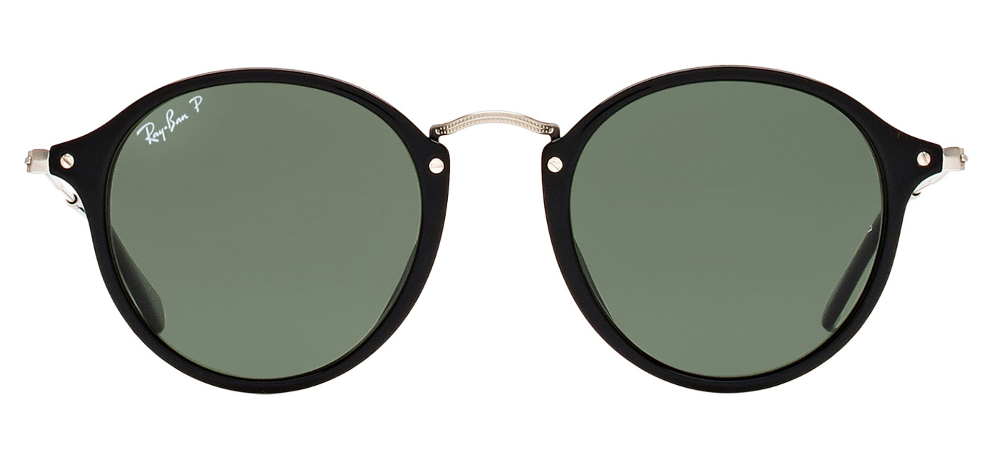 0031727916 ... Ray-Ban RB2447 Round Fleck Sunglasses – Black   Silver   Green Polarised.  prev. next. RB2447-901 58 product1. RB2447-901 58 product2
