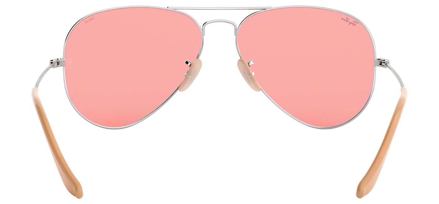9f2eb82ec Ray-Ban RB3025 Aviator Sunglasses - Silver / Evolve Pink ...