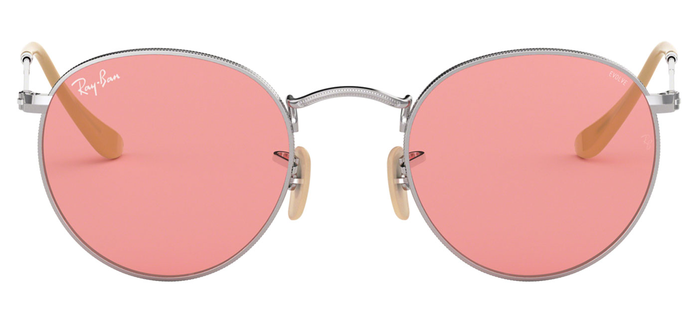 ... authentic ray ban rb3447 round metal sunglasses silver evolve pink  photochromic tortoiseblack 3a2d7 239ba ... b382cae950e3