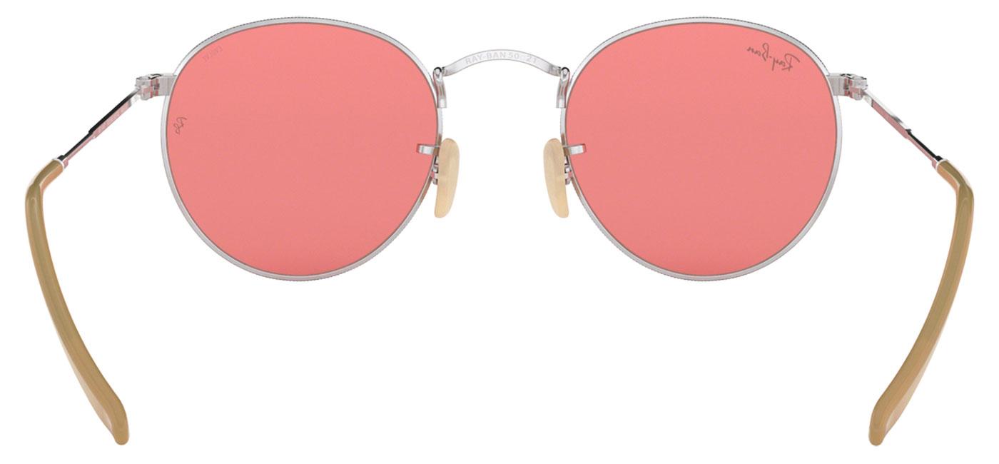 32f3ba70bbacd Ray-Ban RB3447 Round Metal Sunglasses - Silver   Evolve Pink ...
