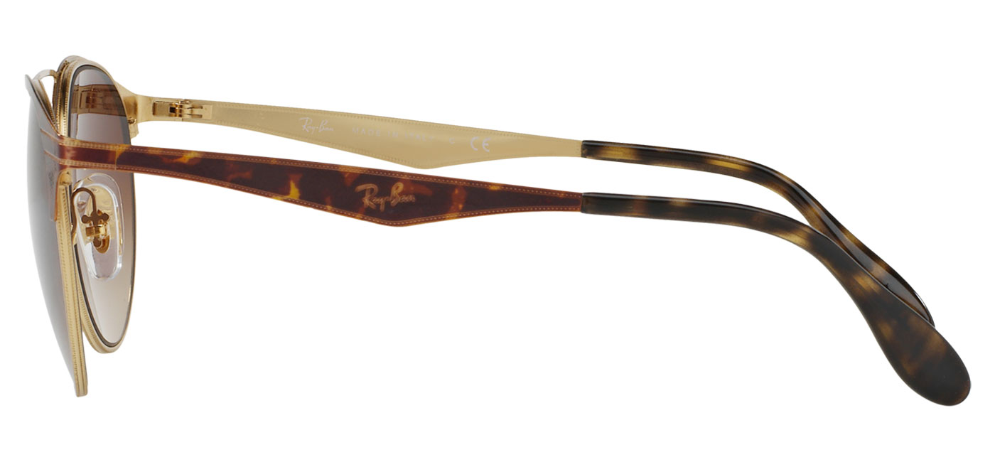 1c30ad7274b Ray-Ban RB3545 Sunglasses - Tortoise   Gold   Brown Gradient ...