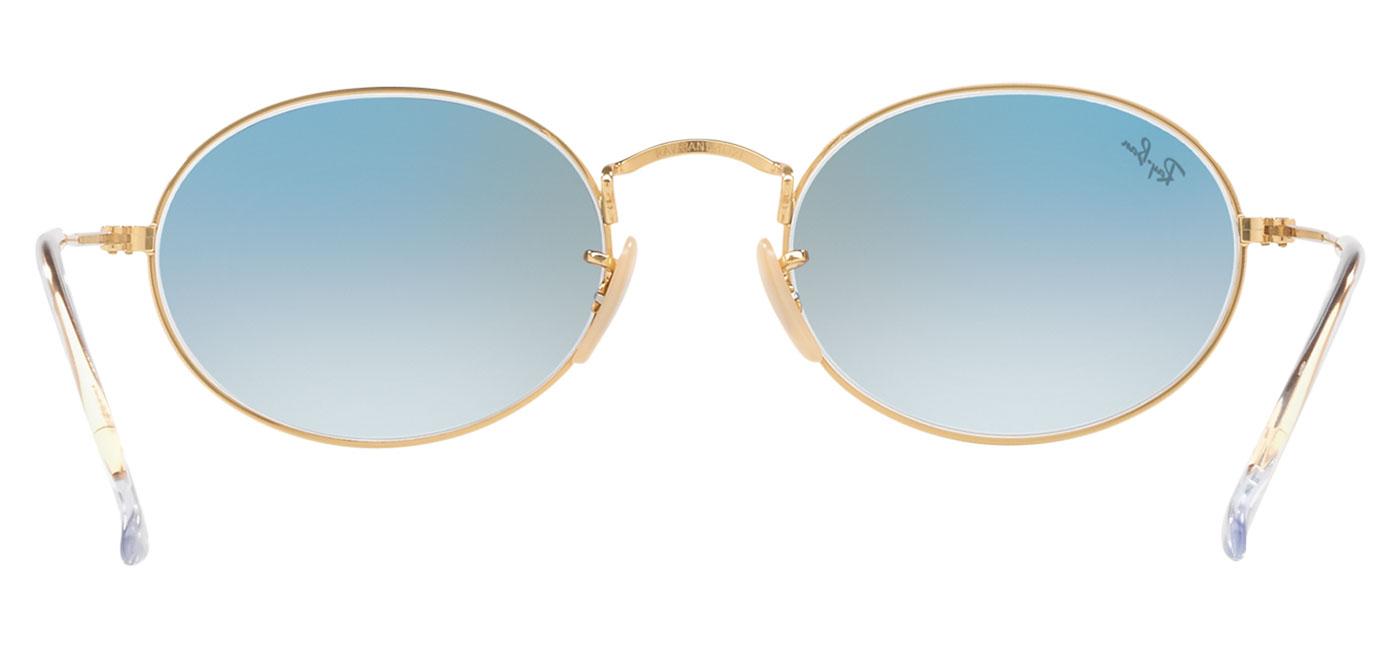 d9b05c5d8b Ray-Ban RB3547N Oval Flat Lens Sunglasses - Gold   Light Blue ...