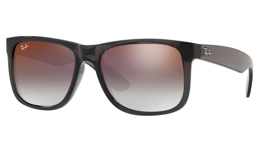 d382d43df6b383 Ray-Ban RB4165 Justin Sunglasses - Transparent Grey   Grey Gradient ...