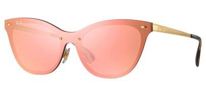 6bd3923cdc Ray-Ban RB3580N Blaze Cat Eye Sunglasses - Tortoise+Black