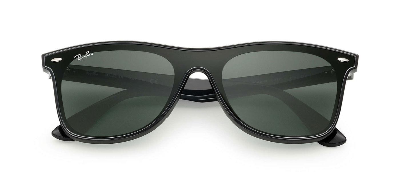 Ray-Ban RB4440N Blaze Wayfarer Sunglasses - Black   Green - Tortoise ... cf9afdf6243