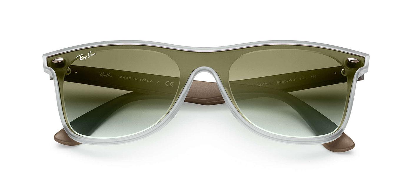 1df2fe2d37 Ray-Ban RB4440N Blaze Wayfarer Sunglasses - Matte Transparent Clear ...