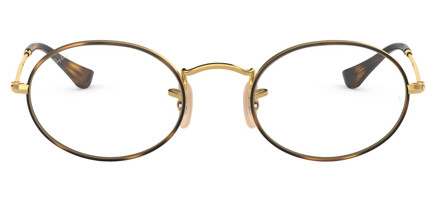 fd6675ea3a Ray-Ban RB3547V Oval Optics Glasses - Gold   Havana - Tortoise+Black