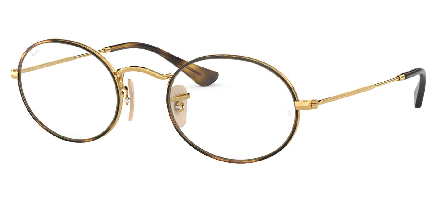 dca9356eff Ray-Ban RB3547V Oval Optics Glasses - Gold   Havana - Tortoise+Black