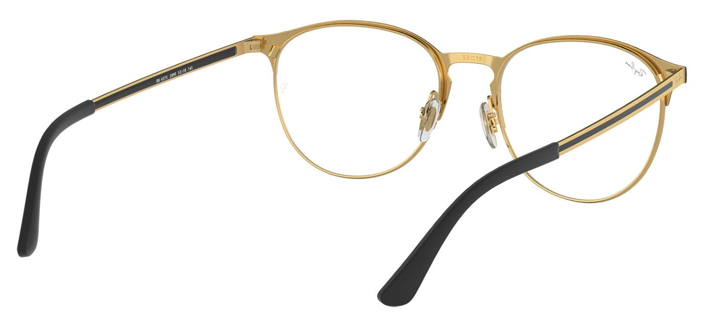 84127190ae6 Ray-Ban RB6375 Glasses - Gold   Black - Tortoise+Black