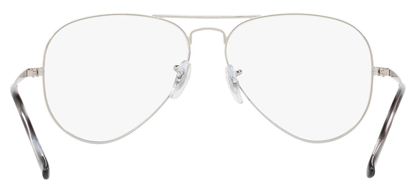a921e6461 Ray-Ban RB6489 Aviator Optics Glasses - Silver - Tortoise+Black