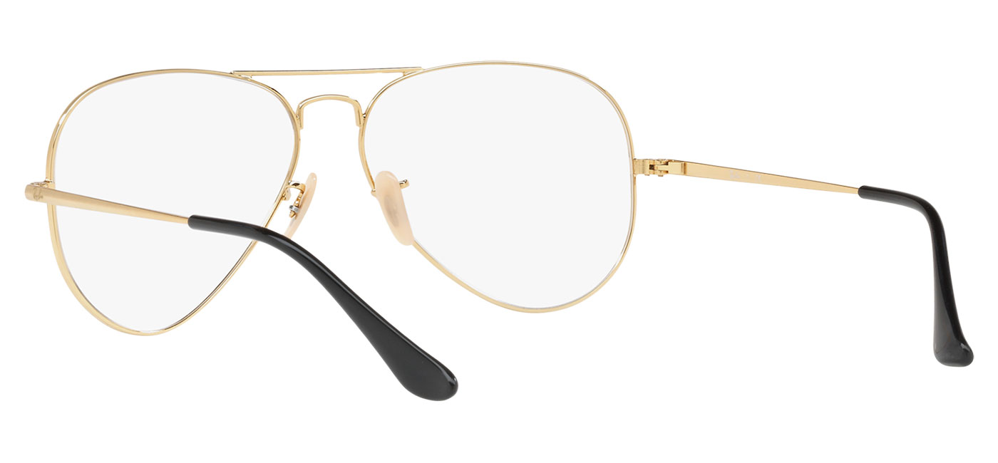 3349765a7c Ray-Ban RB6489 Aviator Optics Glasses - Gold   Black - Tortoise+Black