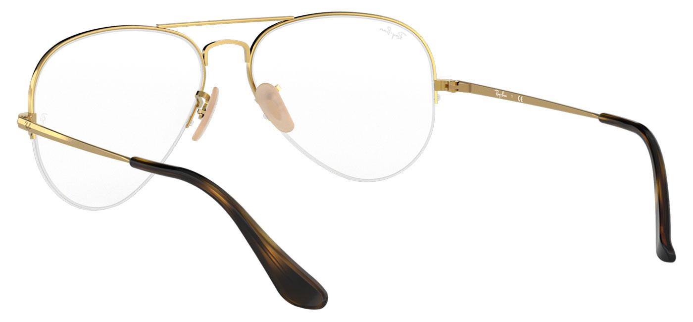 9e199054e1ab8 Ray-Ban RB6589 Aviator Gaze Glasses - Gold - Tortoise+Black