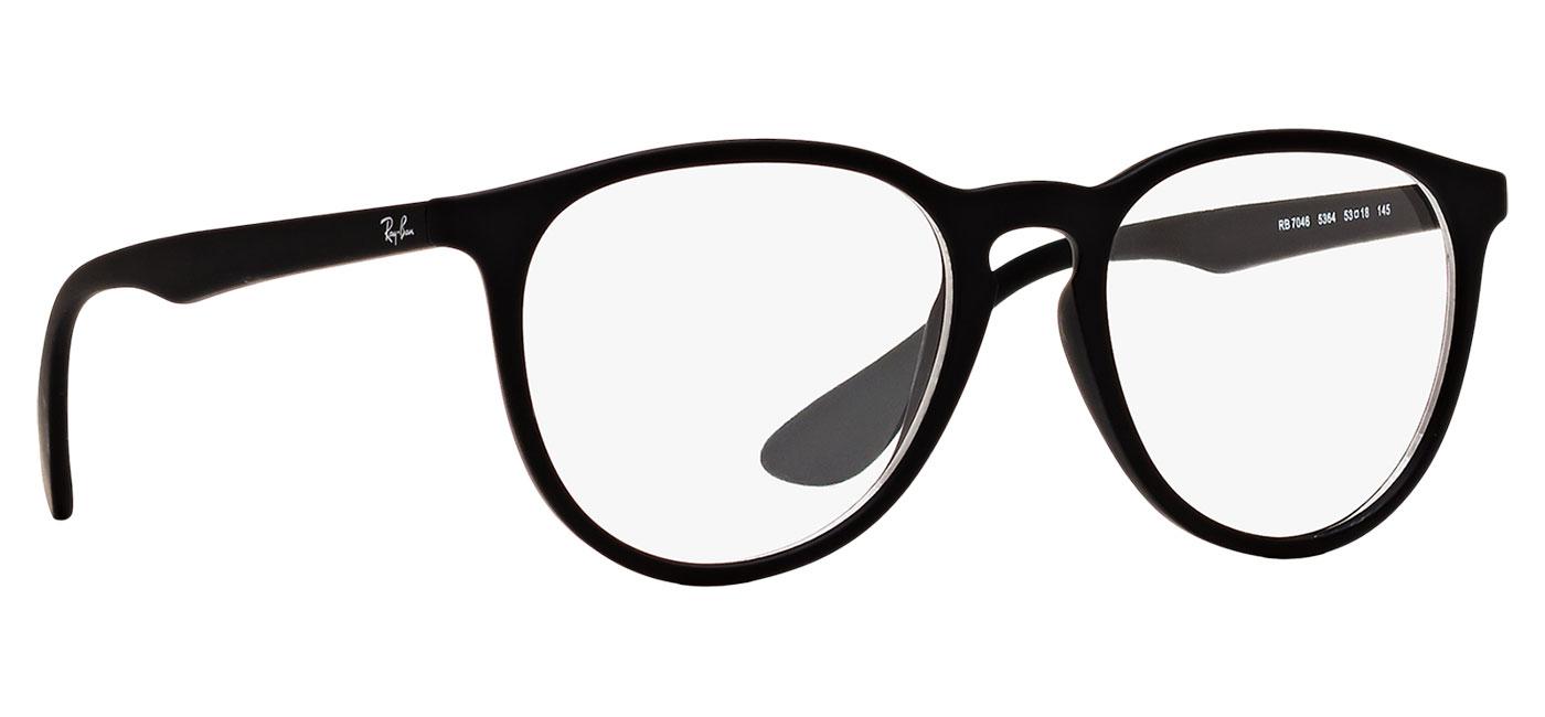 cd8e6f6ec6 Ray-Ban RB7046 Erika Optics Glasses - Rubber Black - Tortoise+Black
