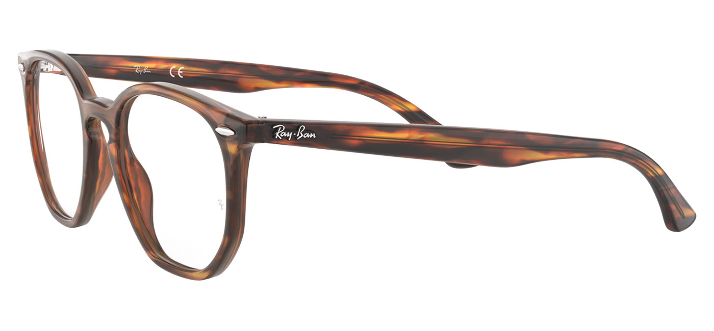 bbd9784094a Ray-Ban RB7151 Hexagonal Optics Glasses - Havana Red   Brown ...