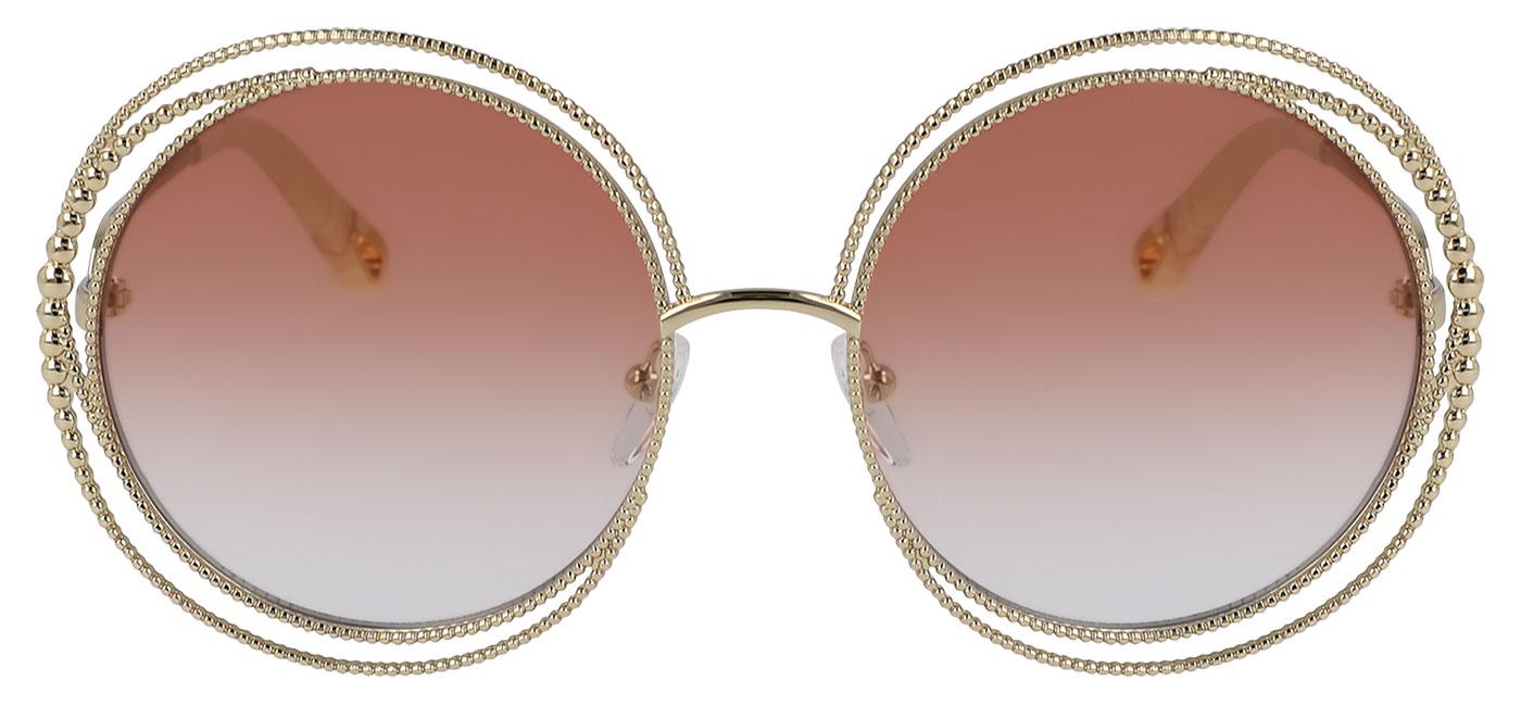 52ff12d5 Chloe CE114SC Carlina Chain Sunglasses - Gold / Light Brown Gradient -  Tortoise+Black