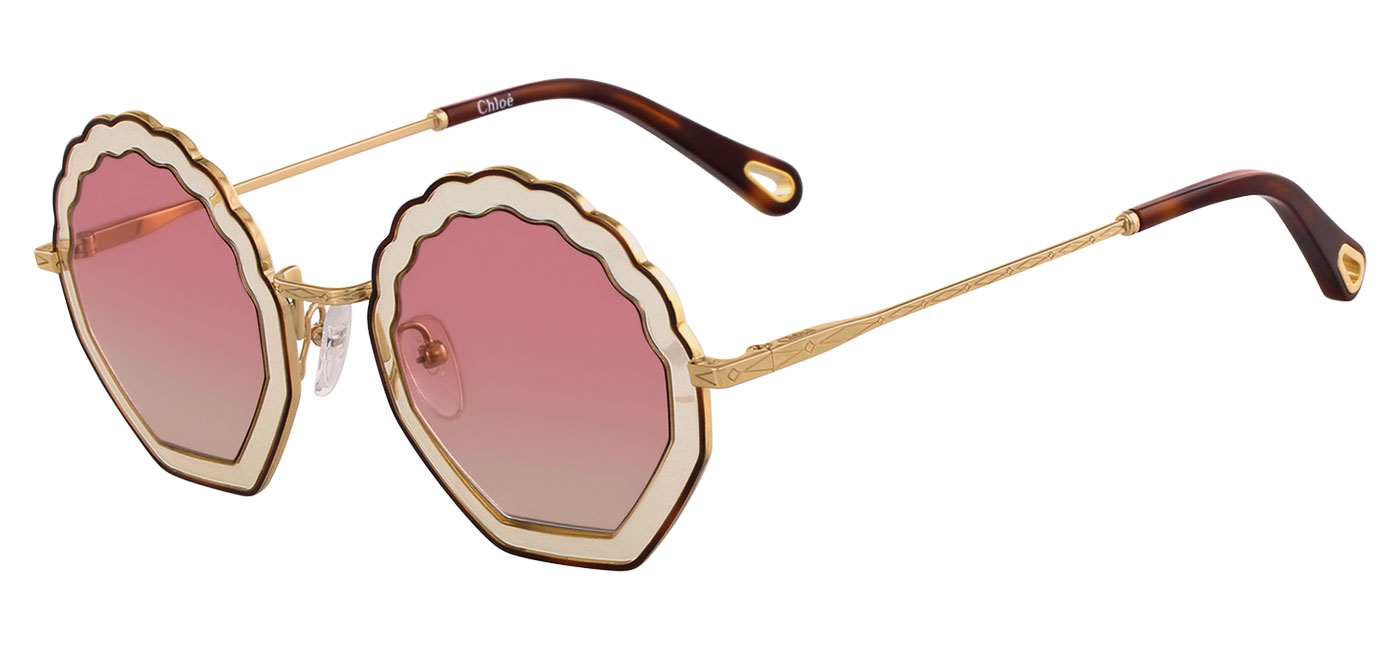 3ac231d368 Chloe CE147S Tally Sunglasses - Havana Sand   Gradient Rose - Tortoise+Black