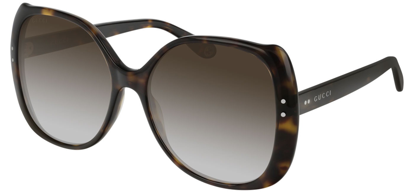b093d9fd411b8 Gucci GG0472S Sunglasses - Havana   Brown Gradient - Tortoise+Black