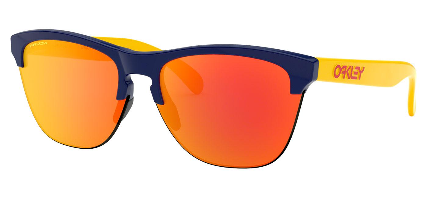df552560f975 Oakley Frogskins Lite Sunglasses - Snapback Collection Navy   Prizm Ruby -  Tortoise+Black