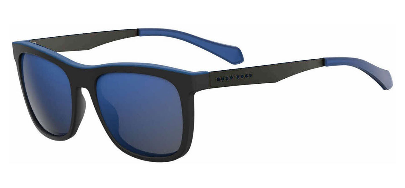 0d24d456a2 ... Hugo Boss 0868 S Sunglasses – Matte Black   Dark Ruthenium   Blue  Mirror. BOSS0868S-0N255XT product