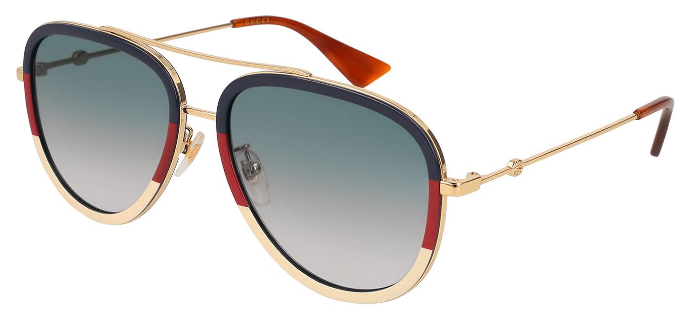 1175ec53071 Gucci GG0062S Prescription Sunglasses - Gold   Multicolour   Blue Gradient  - Tortoise+Black