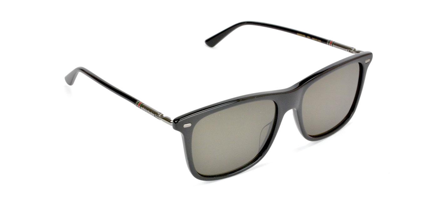d486bbd31 Gucci GG0518S Sunglasses - Black & Ruthenium / Grey - Tortoise+Black