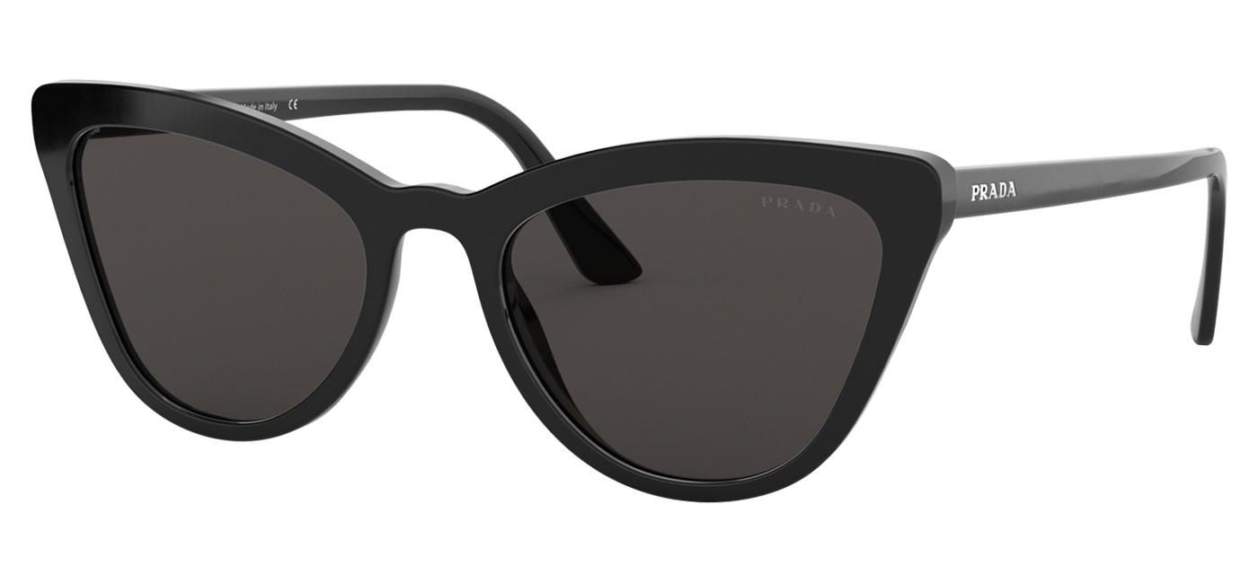 dc4a528d Prada PR01VS Sunglasses - Black / Dark Grey - Tortoise+Black