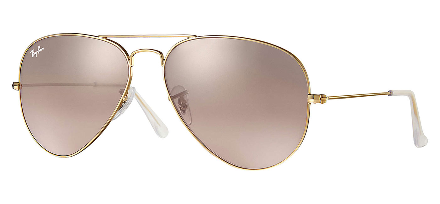 ray ban 3025 aviator sunglasses mirror pink gold