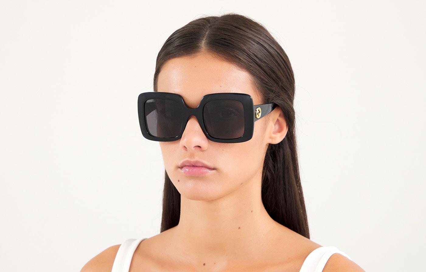 Gucci GG0896S Sunglasses - Black / Grey - Tortoise+Black