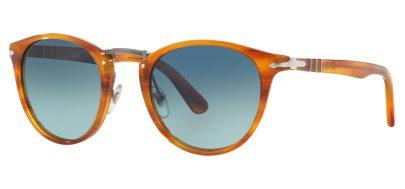 Persol PO3108S Sunglasses - Striped Brown / Blue Gradient Polarised