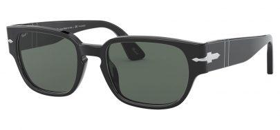 Persol PO3245S Sunglasses - Black / Green Polarised