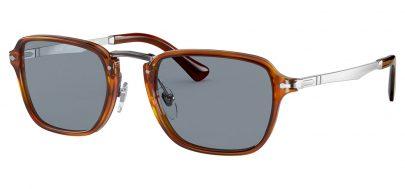 Persol PO3247S Sunglasses - Terra di Siena / Light Blue