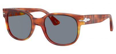Persol PO3257S Sunglasses - Terra di Siena / Light Blue