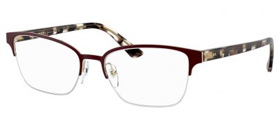 Prada PR61XV Glasses - Bordeaux & Pale Gold