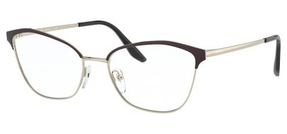 Prada PR62XV Glasses - Black & Light Gold