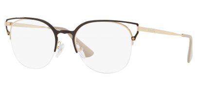 Prada PR64UV Glasses - Brown & Gold
