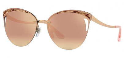 Bvlgari BV6110 Sunglasses - Pink Gold / Rose Gold Mirror