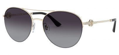 Bvlgari BV6132B Prescription Sunglasses - Pale Gold / Grey Gradient