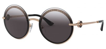Bvlgari BV6149B Sunglasses - Pink Gold / Grey Gradient