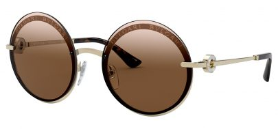 Bvlgari BV6149B Sunglasses - Pale Gold / Brown Gradient