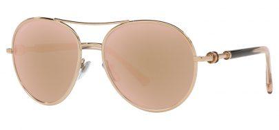 Bvlgari BV6156 Sunglasses - Pink Gold / Rose Gold Mirror