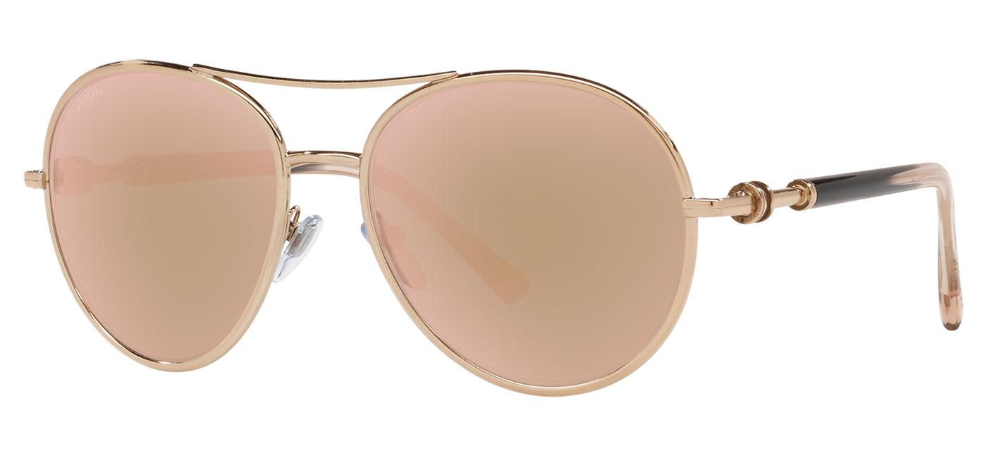 Bvlgari BV6156 Sunglasses – Pink Gold / Rose Gold Mirror 1