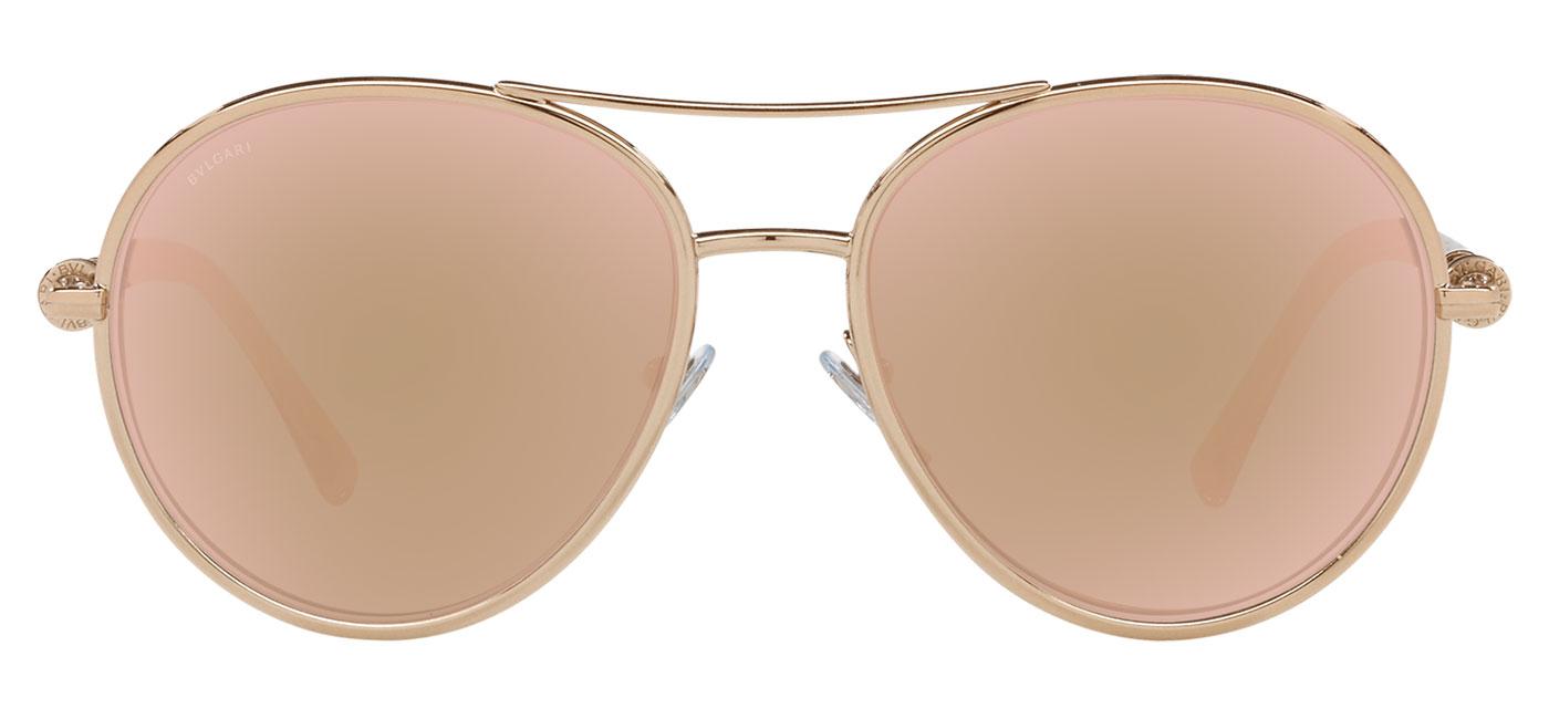 Bvlgari BV6156 Sunglasses – Pink Gold / Rose Gold Mirror 2