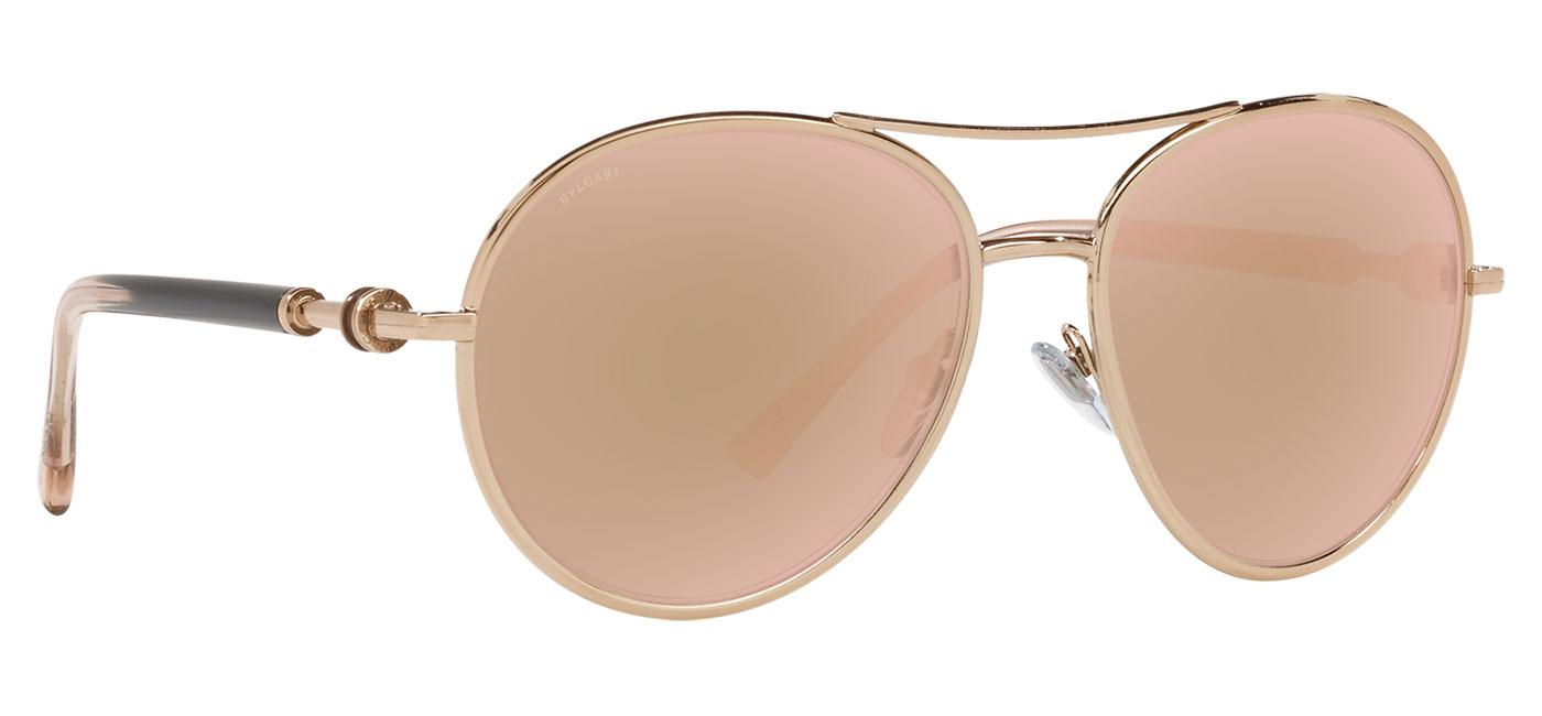 Bvlgari BV6156 Sunglasses – Pink Gold / Rose Gold Mirror 3